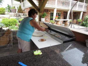 Pat Muscedere Making Pizza